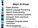 major ai areas