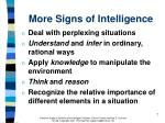more signs of intelligence