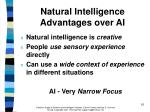 natural intelligence advantages over ai