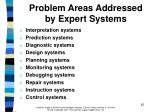 problem areas addressed by expert systems