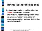 turing test for intelligence
