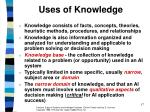 uses of knowledge