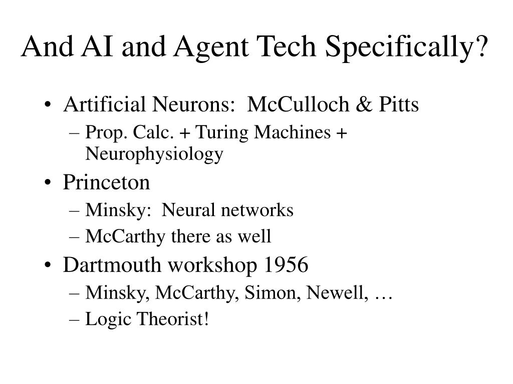 And AI and Agent Tech Specifically?
