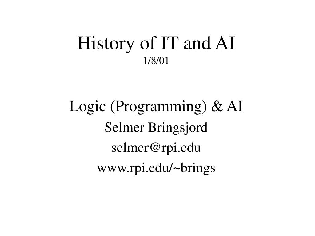 History of IT and AI