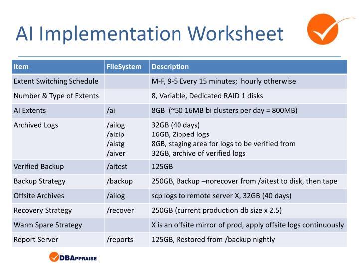 AI Implementation Worksheet