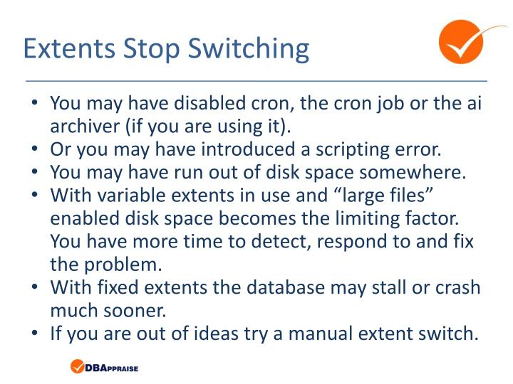 Extents Stop Switching