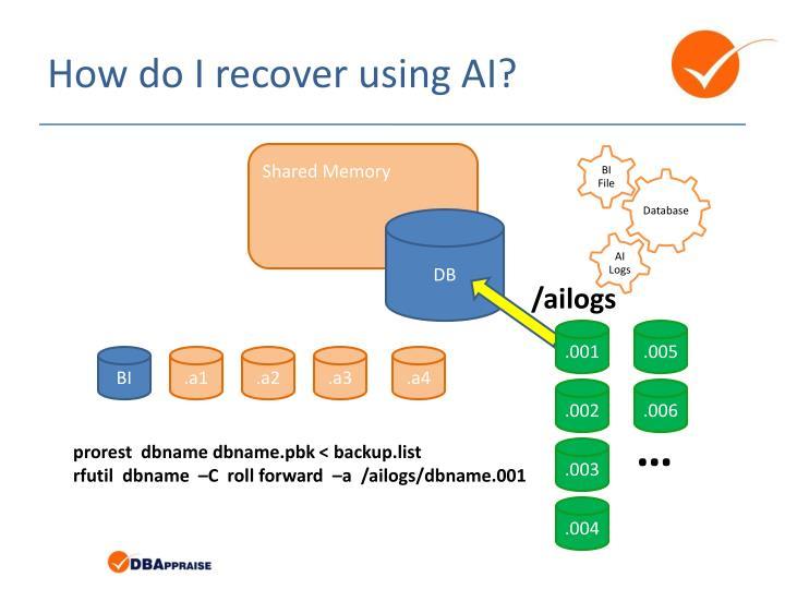 How do I recover using AI?