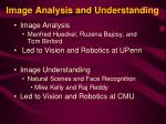 image analysis and understanding