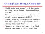 are religion and strong ai compatible