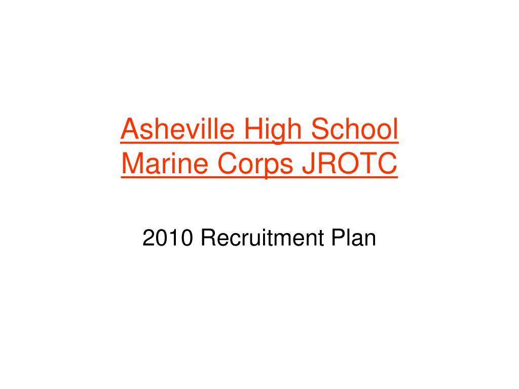 asheville high school marine corps jrotc l.