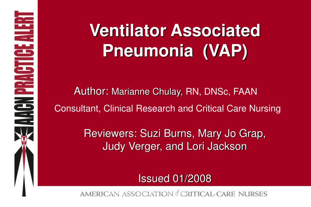 ventilator associated pneumonia vap l.