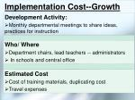implementation cost growth