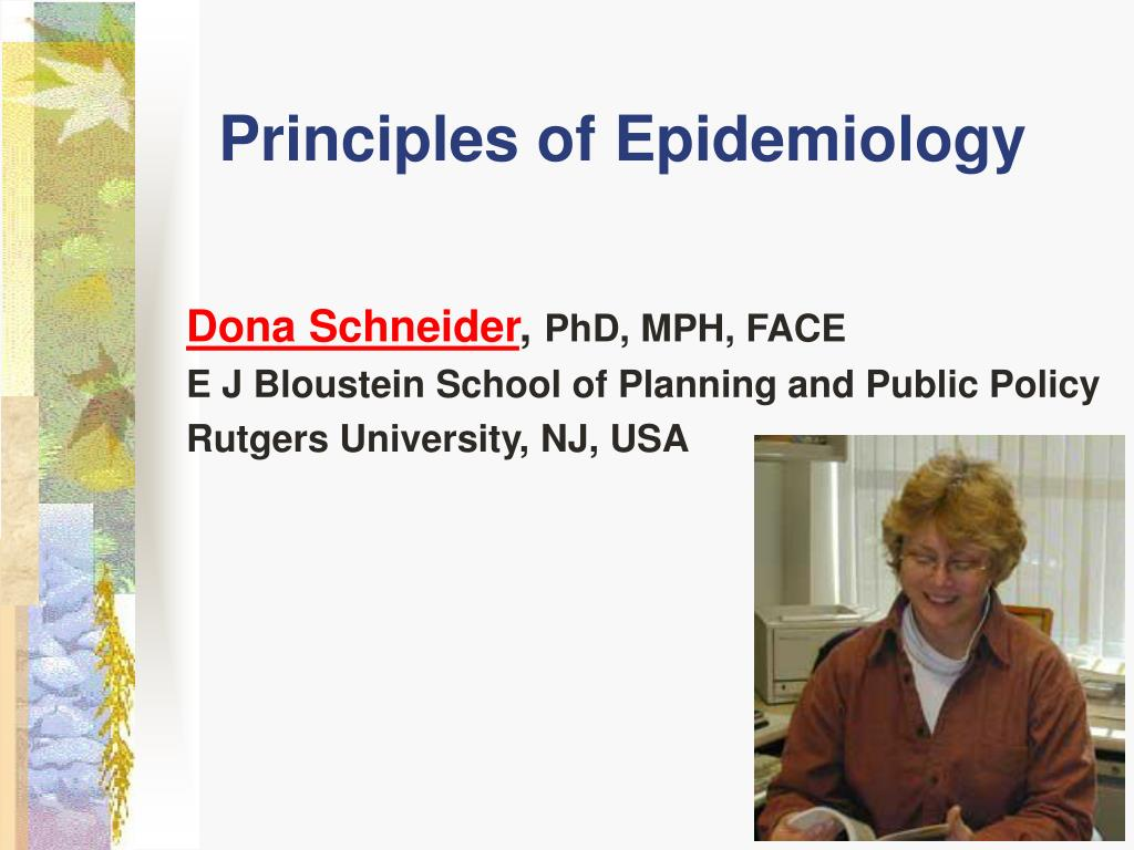 principles of epidemiology l.