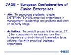 jade european confederation of junior enterprises