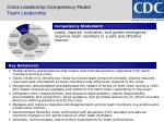 crisis leadership competency model team leadership