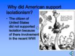 why did american support isolationism