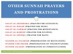 other sunnah prayers and prostrations