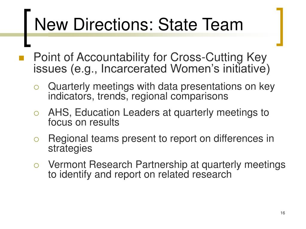 New Directions: State Team