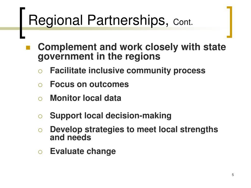 Regional Partnerships,