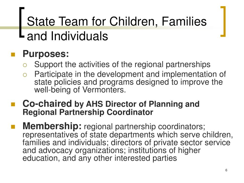 State Team for Children, Families and Individuals