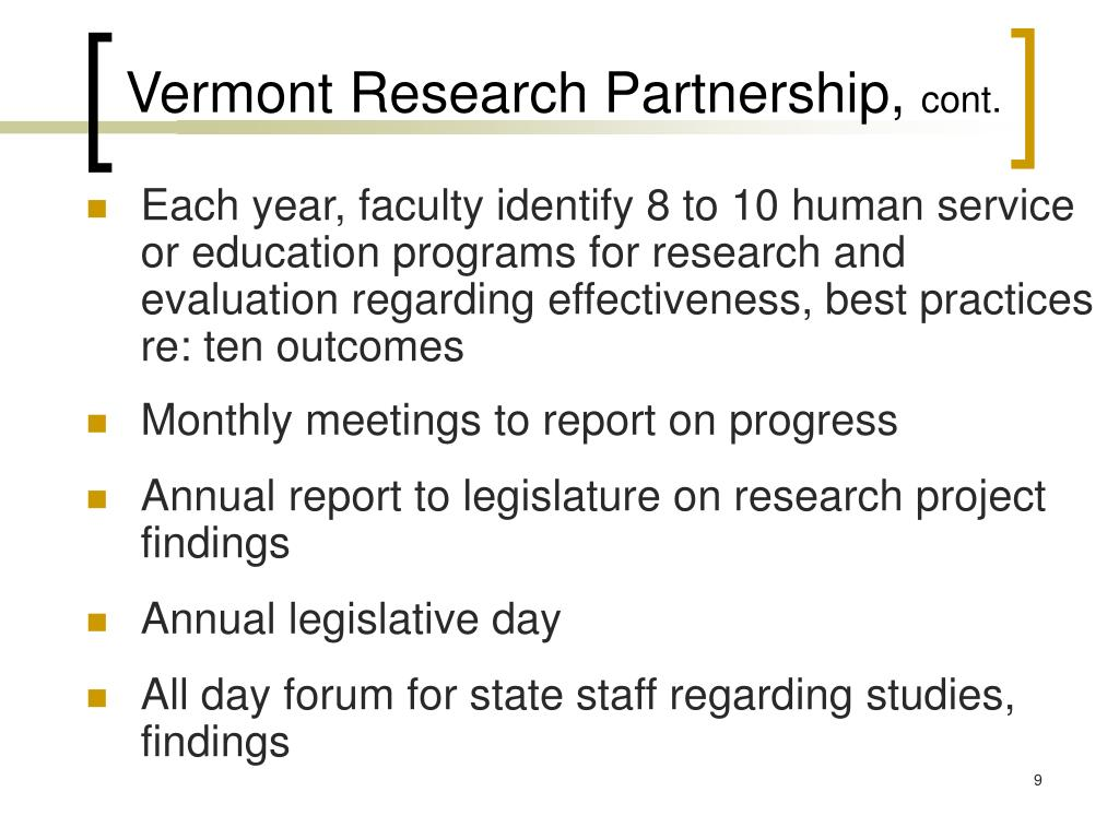 Vermont Research Partnership,