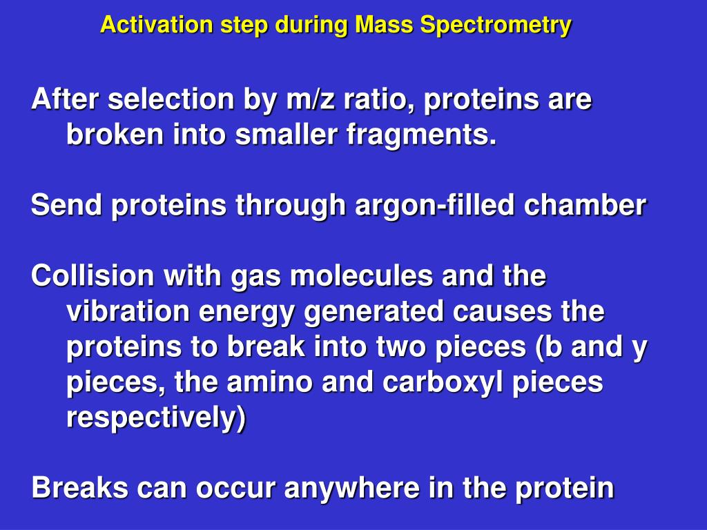 Activation step during Mass Spectrometry