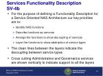 services functionality description sv 4b