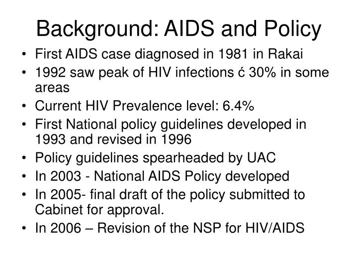 Background aids and policy