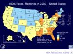 aids rates reported in 2002 us
