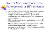 role of micronutrients in the pathogenesis of hiv infection