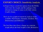 expert choice sensitivity analysis