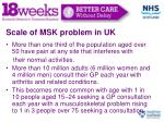 scale of msk problem in uk