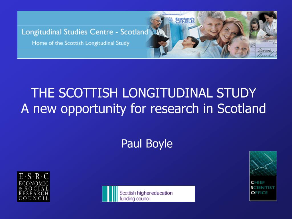 the scottish longitudinal study a new opportunity for research in scotland l.