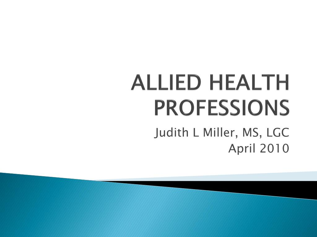 allied health professions l.