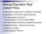 making population real lesson plans