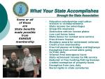 what your state accomplishes through the state association