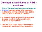 concepts definitions of aids continued13