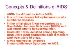 concepts definitions of aids