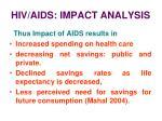 hiv aids impact analysis21