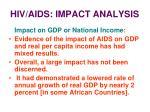 hiv aids impact analysis22