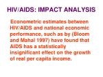 hiv aids impact analysis24