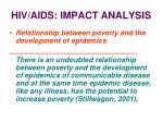 hiv aids impact analysis27