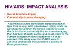 hiv aids impact analysis28