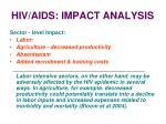 hiv aids impact analysis30