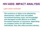 hiv aids impact analysis31
