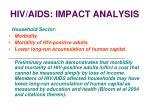 hiv aids impact analysis32