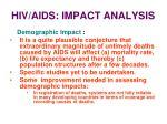 hiv aids impact analysis34