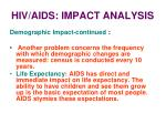 hiv aids impact analysis35