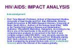 hiv aids impact analysis37