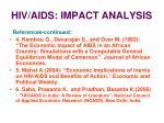 hiv aids impact analysis39